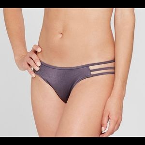 Shade & Shore Purple Steel Cheeky Strappy Bottoms